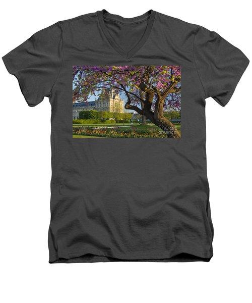 Springtime In Paris Men's V-Neck T-Shirt