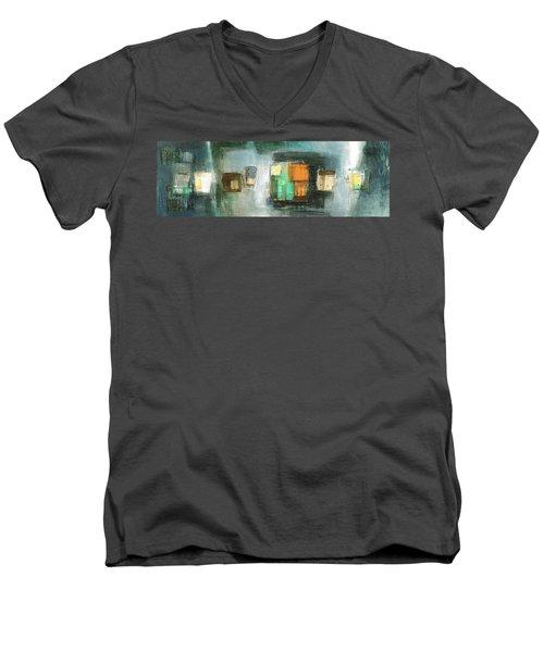 Square91.5 Men's V-Neck T-Shirt by Behzad Sohrabi