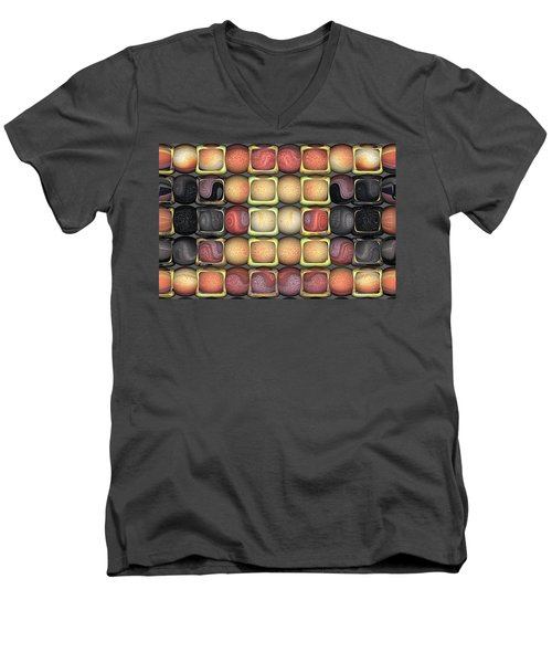 Square Holes Round Pegs Men's V-Neck T-Shirt