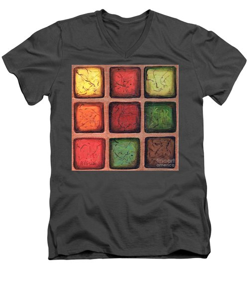 Squared In Bronze Men's V-Neck T-Shirt