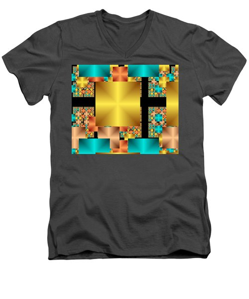 Squares Men's V-Neck T-Shirt