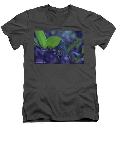 squiggle Vine Men's V-Neck T-Shirt by Stefanie Silva