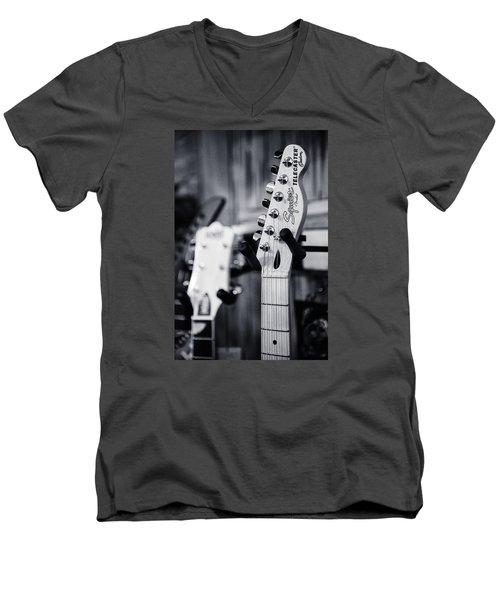 Squier Telecaster Men's V-Neck T-Shirt