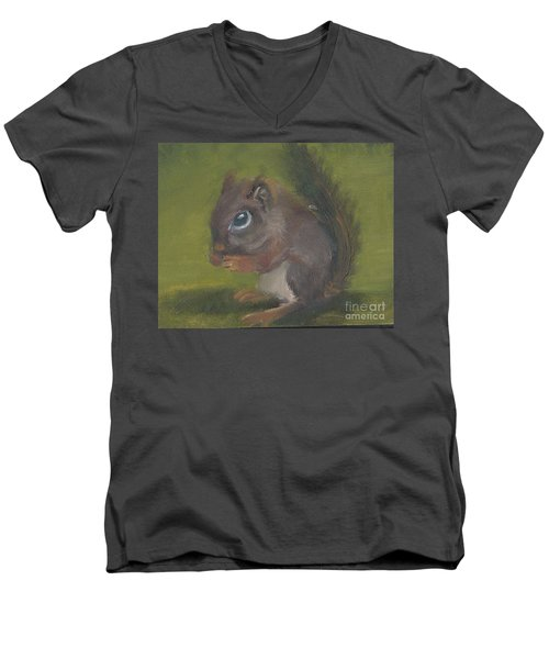 Squirrel Men's V-Neck T-Shirt by Jessmyne Stephenson