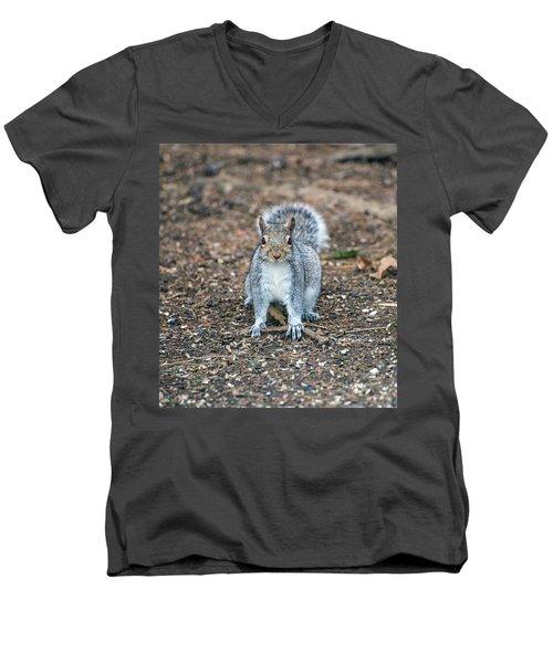 Squriel Full Face Men's V-Neck T-Shirt