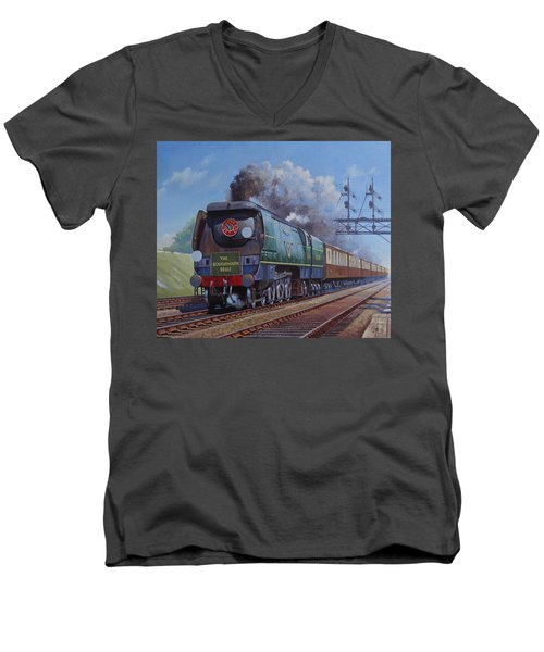 Sr Merchant Navy Pacific Men's V-Neck T-Shirt
