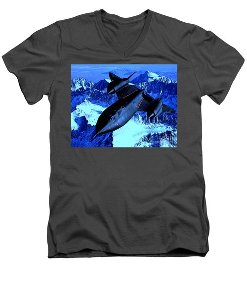 Sr71 Mountain Climber Men's V-Neck T-Shirt by Greg Moores