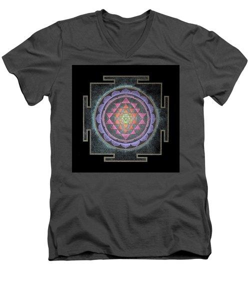 Sri Yantra Men's V-Neck T-Shirt