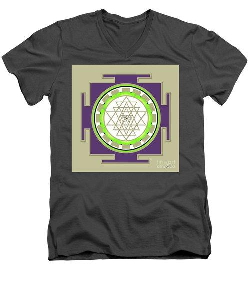 Sri Yantra Of Prosperity Men's V-Neck T-Shirt