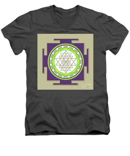 Sri Yantra Of Prosperity Men's V-Neck T-Shirt
