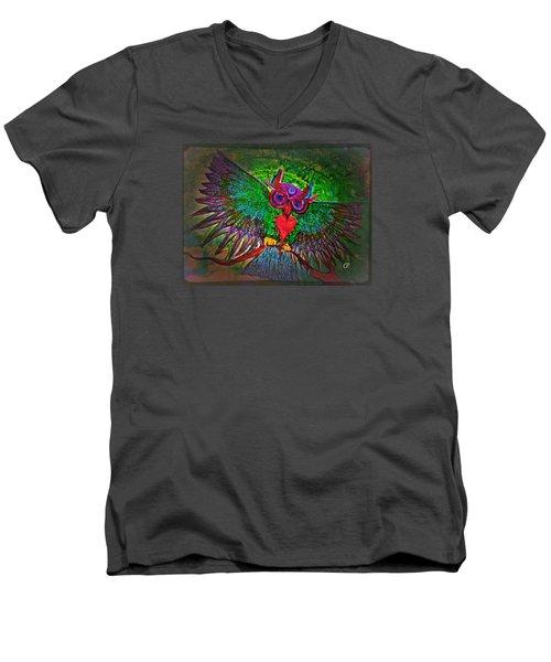 Ss Owl Men's V-Neck T-Shirt