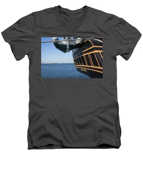 Ssv Oliver Hazard Perry Close Up Men's V-Neck T-Shirt by Nancy De Flon