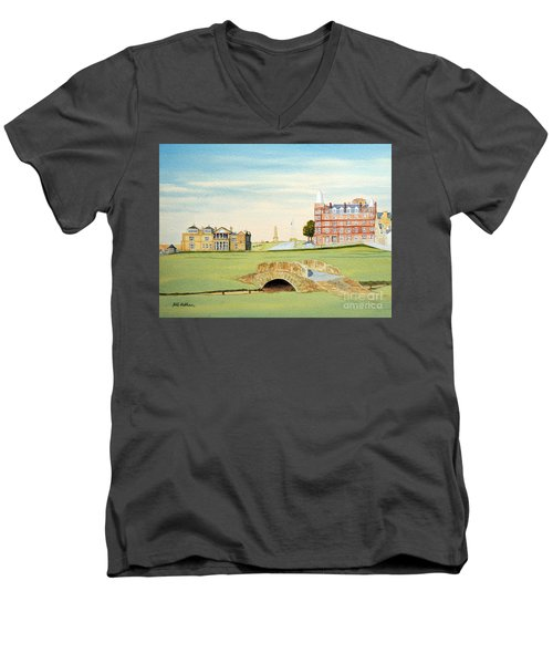 St Andrews Golf Course Scotland Classic View Men's V-Neck T-Shirt