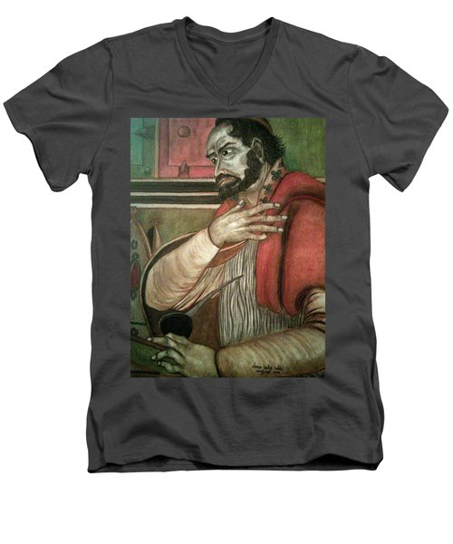 St. Augustine Men's V-Neck T-Shirt