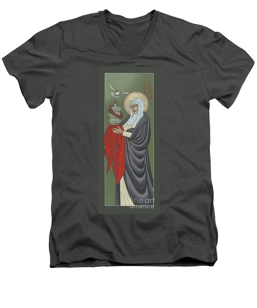 St Catherine Of Siena- Guardian Of The Papacy 288 Men's V-Neck T-Shirt