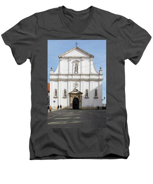 St. Catherine's Church Men's V-Neck T-Shirt by Steven Richman