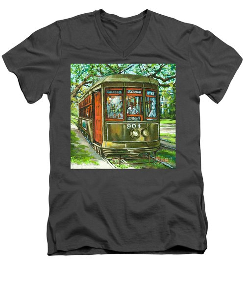 St. Charles No. 904 Men's V-Neck T-Shirt