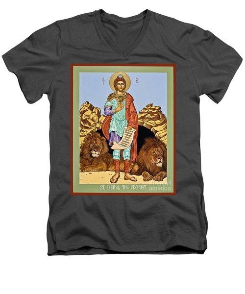 St. Daniel In The Lion's Den - Lwdld Men's V-Neck T-Shirt