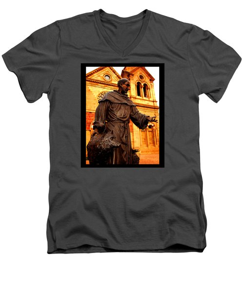 Cathedral Basilica Of St. Francis Of Assisi Men's V-Neck T-Shirt by Susanne Still