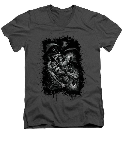 St. George And Dragon T-shirt Men's V-Neck T-Shirt