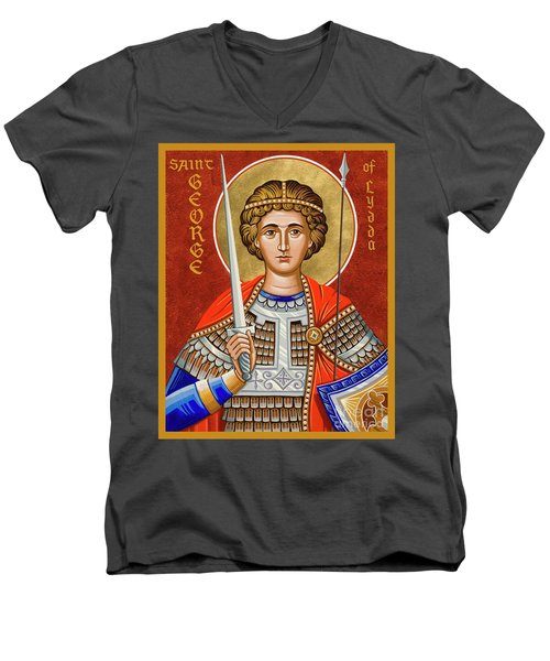 St. George Of Lydda - Jcgly Men's V-Neck T-Shirt