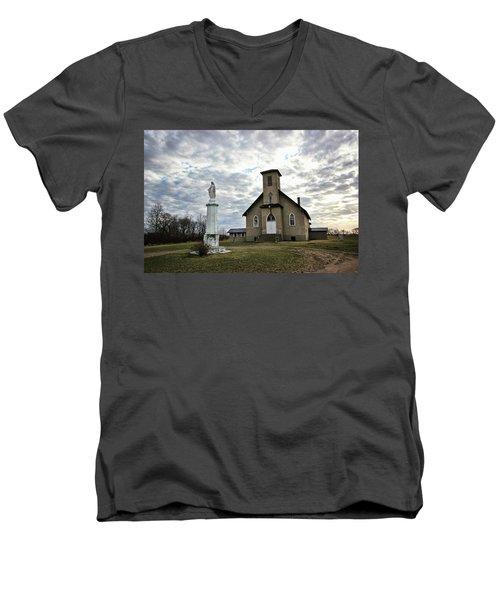 St Hubert Men's V-Neck T-Shirt