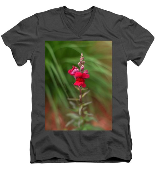 St. Johns Park Flower 872 Men's V-Neck T-Shirt