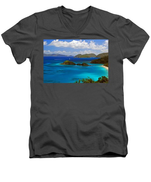 St. John's Usvi Men's V-Neck T-Shirt