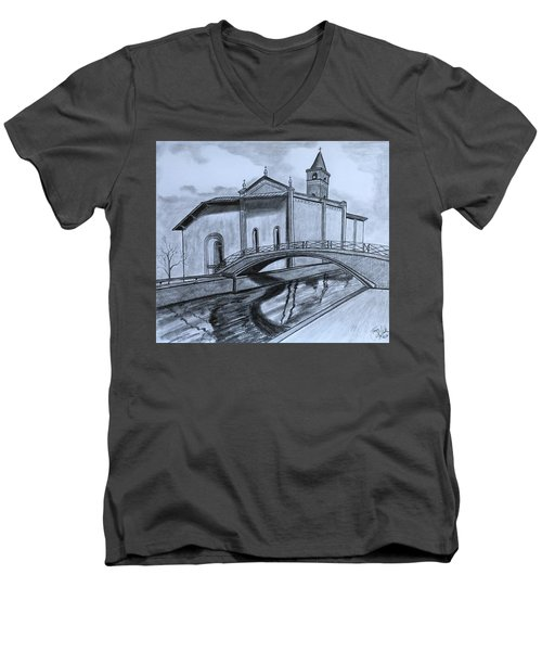 St. Jules Cathedral  Men's V-Neck T-Shirt by Tony Clark