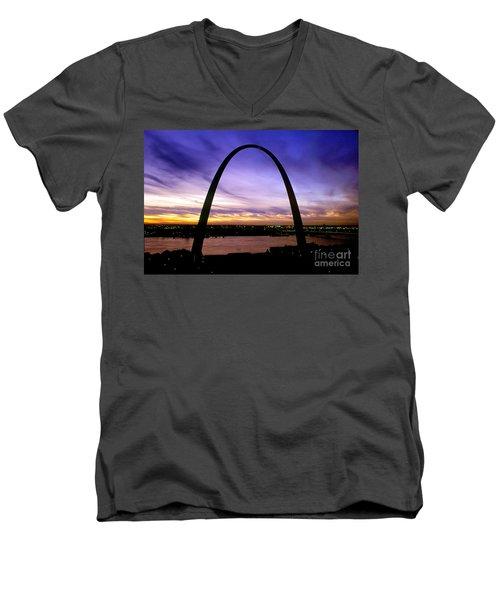 St. Louis, Missouri Men's V-Neck T-Shirt by Wernher Krutein