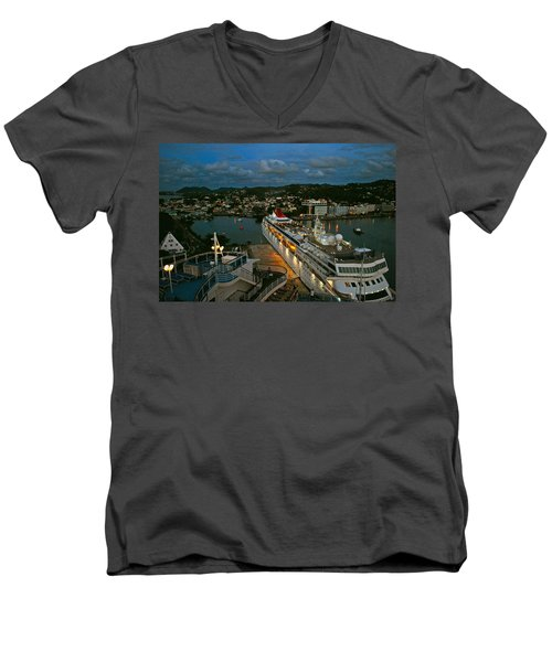 St. Lucia In The Evening Men's V-Neck T-Shirt