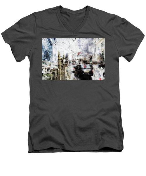 St Mary Axe Men's V-Neck T-Shirt