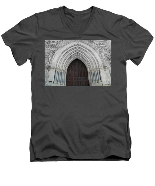 St. Mary Cathedral- Austin Texas Men's V-Neck T-Shirt