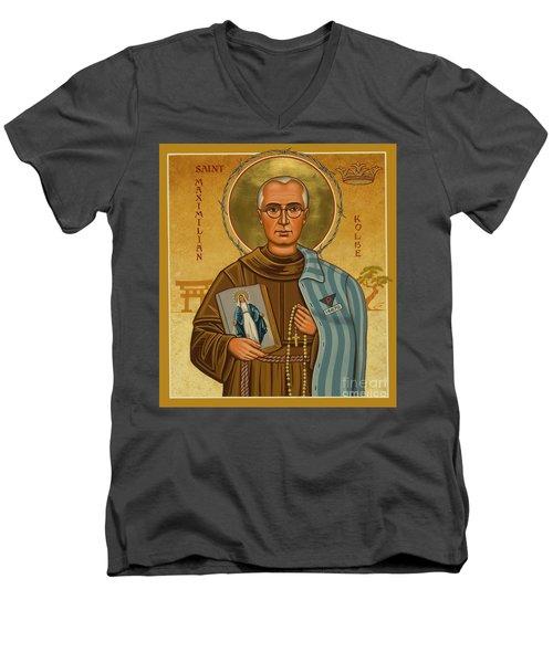 St. Maximilian Kolbe - Jckol Men's V-Neck T-Shirt