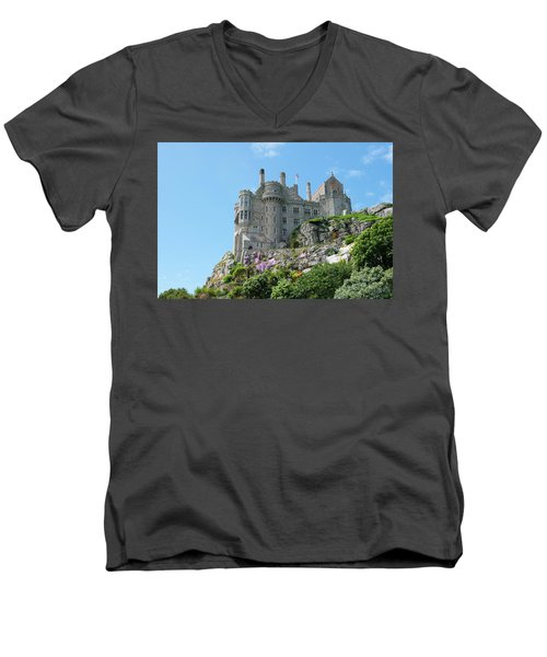 St Michael's Mount Castle Men's V-Neck T-Shirt