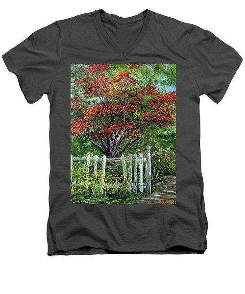 St. Michael's Tree Men's V-Neck T-Shirt
