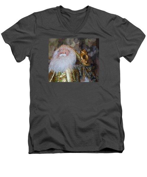 St. Nicolas Men's V-Neck T-Shirt by Cathy Jourdan