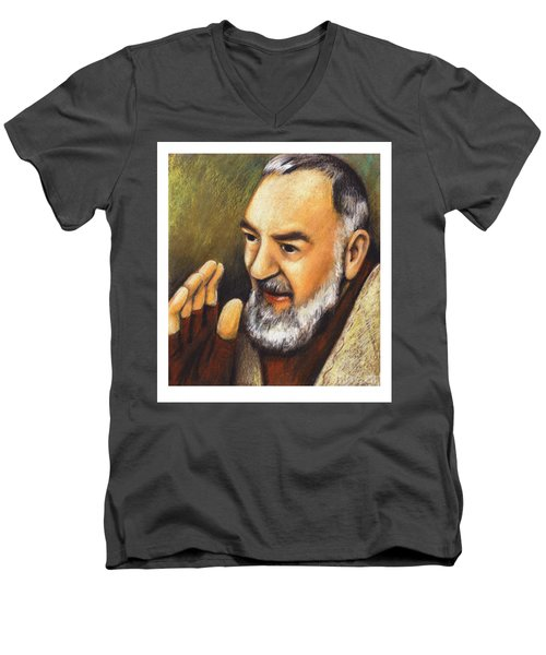 St. Padre Pio Of Pietrelcina - Jlpio Men's V-Neck T-Shirt