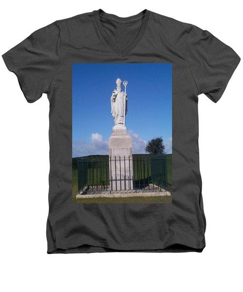 St Patrick Men's V-Neck T-Shirt by Charles Kraus