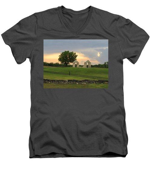 St. Patrick's Mission Church Memorial Men's V-Neck T-Shirt