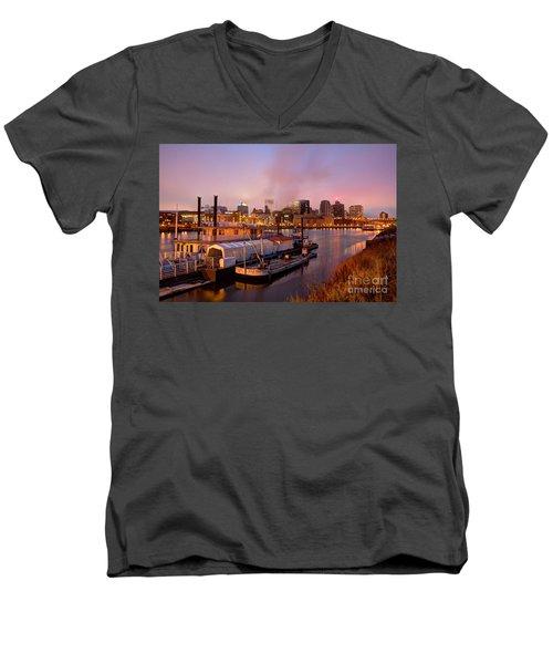 St Paul Minnesota Its A River Town Men's V-Neck T-Shirt