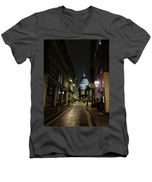 St. Pauls By Night Men's V-Neck T-Shirt