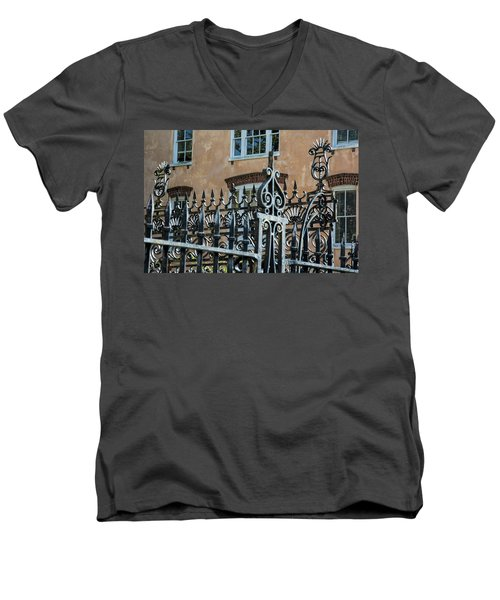 St. Philip's Gate Men's V-Neck T-Shirt by Ed Waldrop
