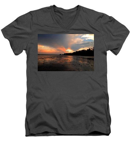 St Simons Island Men's V-Neck T-Shirt
