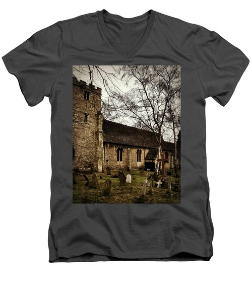 Men's V-Neck T-Shirt featuring the photograph St. Thomas The Martyr by Persephone Artworks