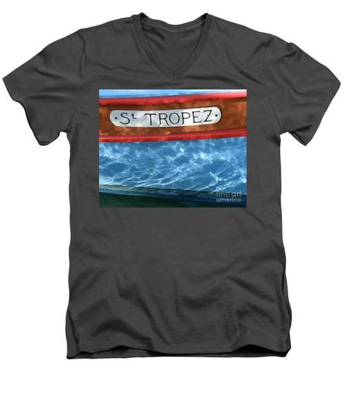 St. Tropez Men's V-Neck T-Shirt by Lainie Wrightson