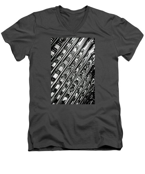 Stacked Chairs Abstract Men's V-Neck T-Shirt by Bruce Carpenter