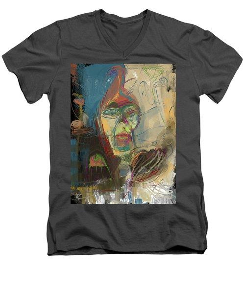 Stage Fright Men's V-Neck T-Shirt