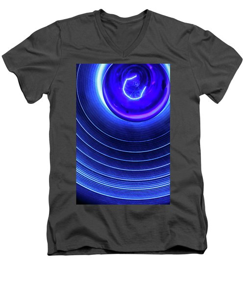 Men's V-Neck T-Shirt featuring the photograph Stage Light by KG Thienemann