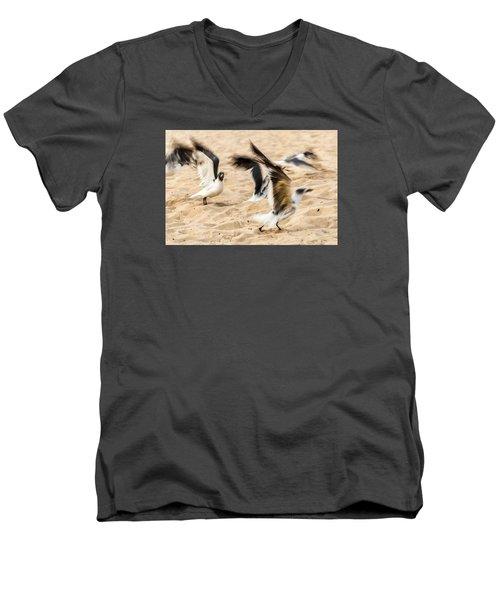 Stages Of Flight Men's V-Neck T-Shirt by Wayne King
